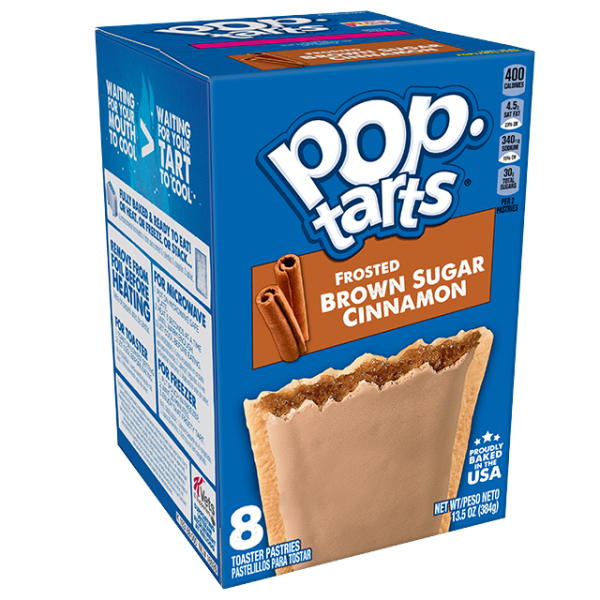 Biscuits POPTARTS (BROWN SUGAR AND CINAMON), 400 g.